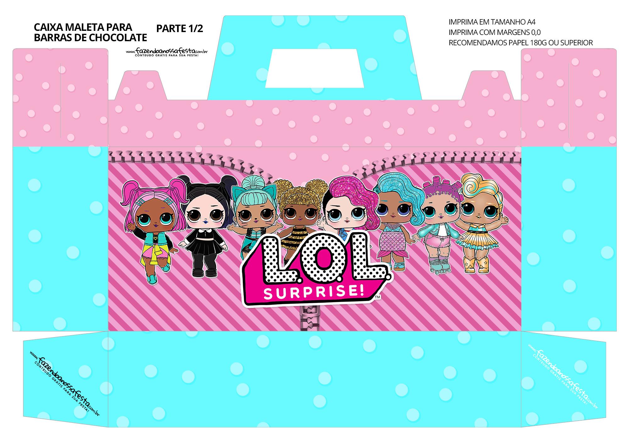 Caixa Maleta para Pascoa Lol Surprise 01