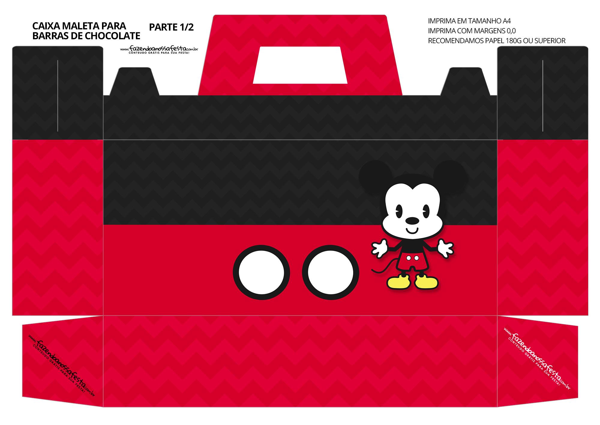Caixa Maleta para Pascoa Mickey 1 01