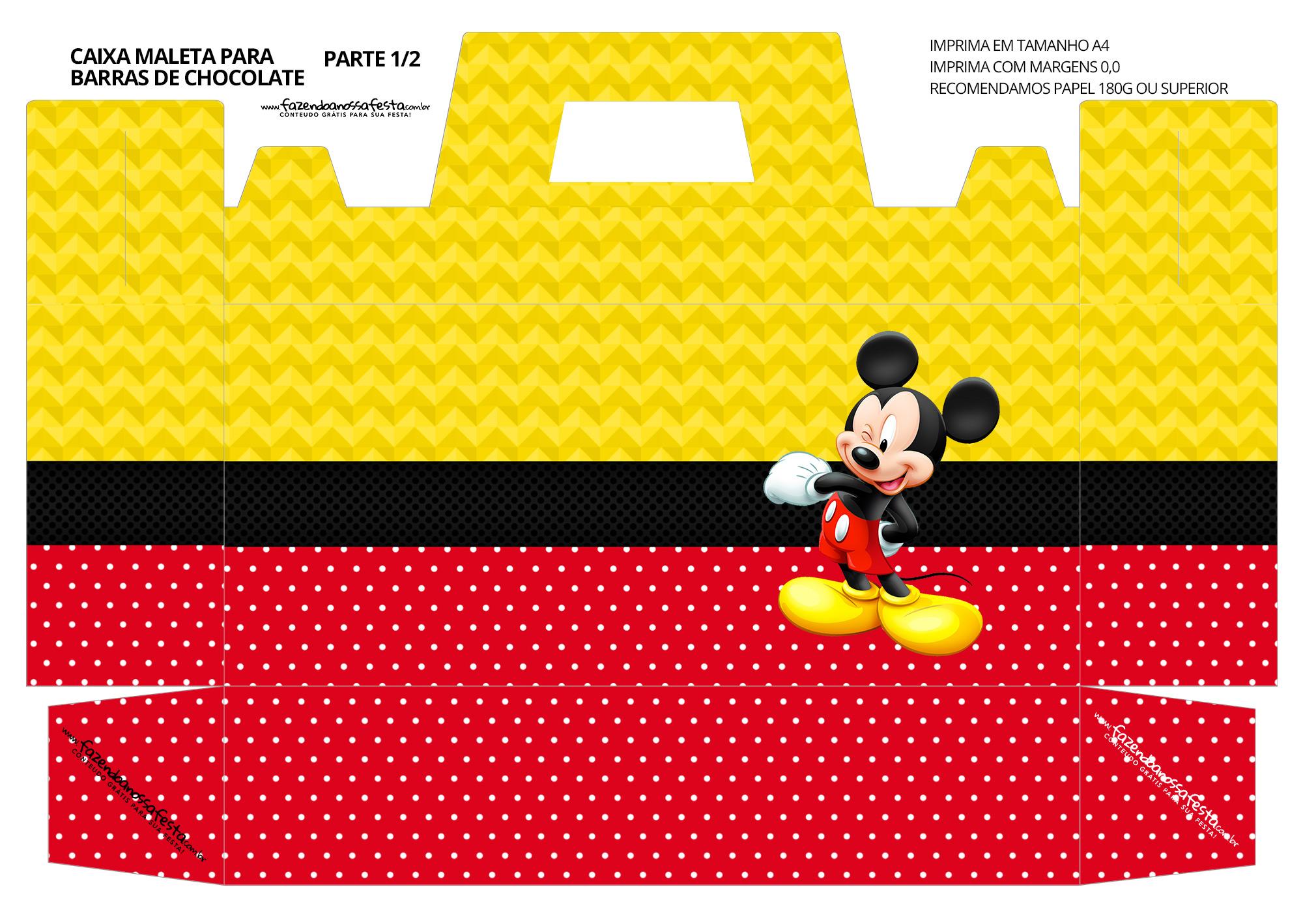 Caixa Maleta para Pascoa Mickey 4 01