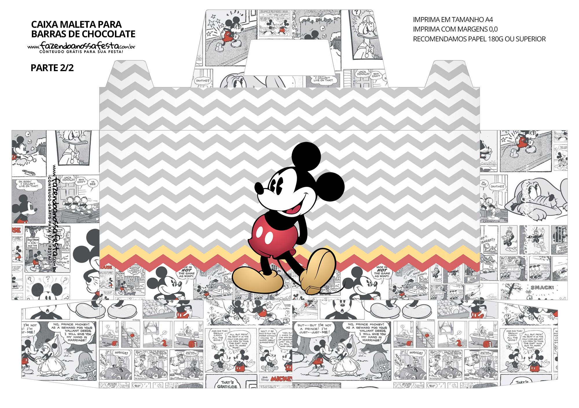 Caixa Maleta para Pascoa Mickey Mouse 02