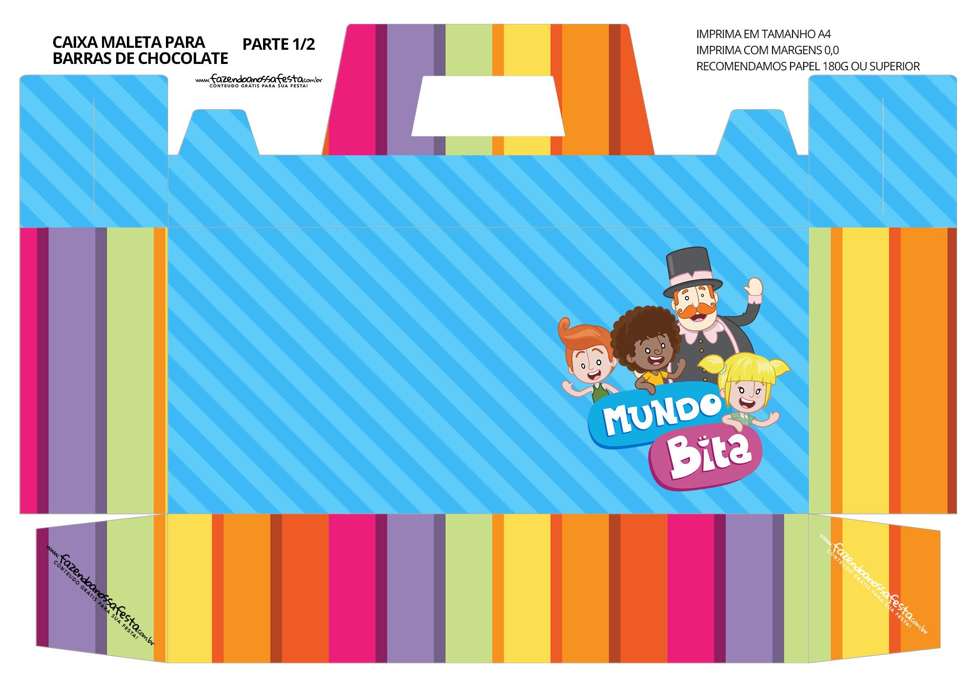 Caixa Maleta para Pascoa Mundo Bita 01