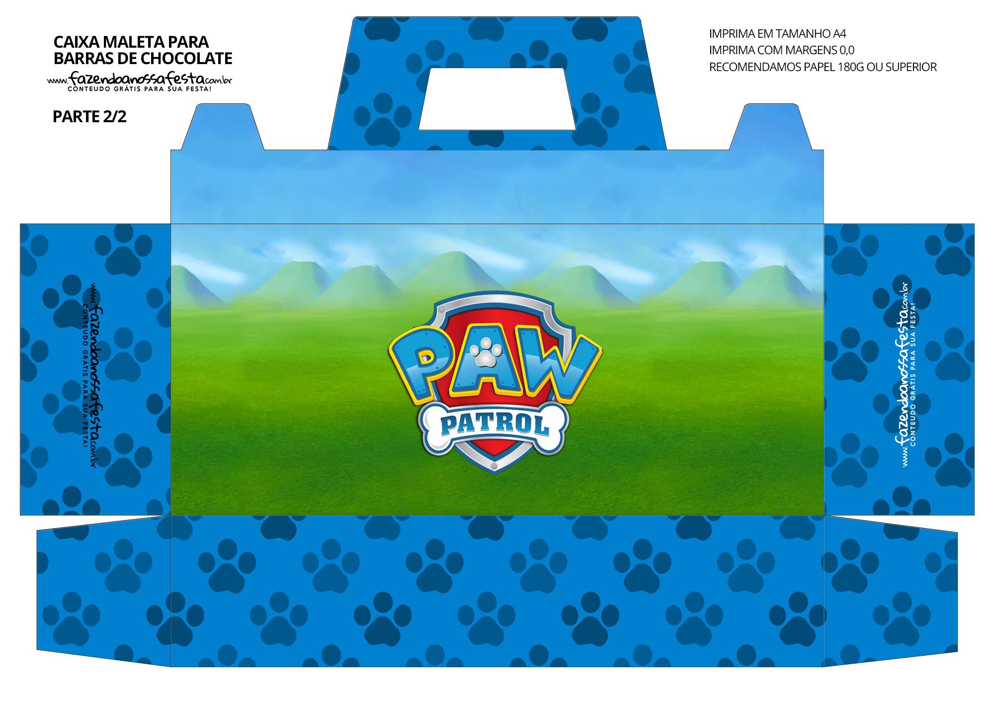 Caixa Maleta para Pascoa Patrulha Canina 02