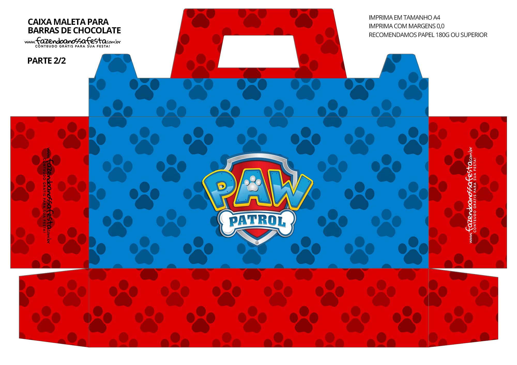 Caixa Maleta para Pascoa Patrulha Canina 2 02