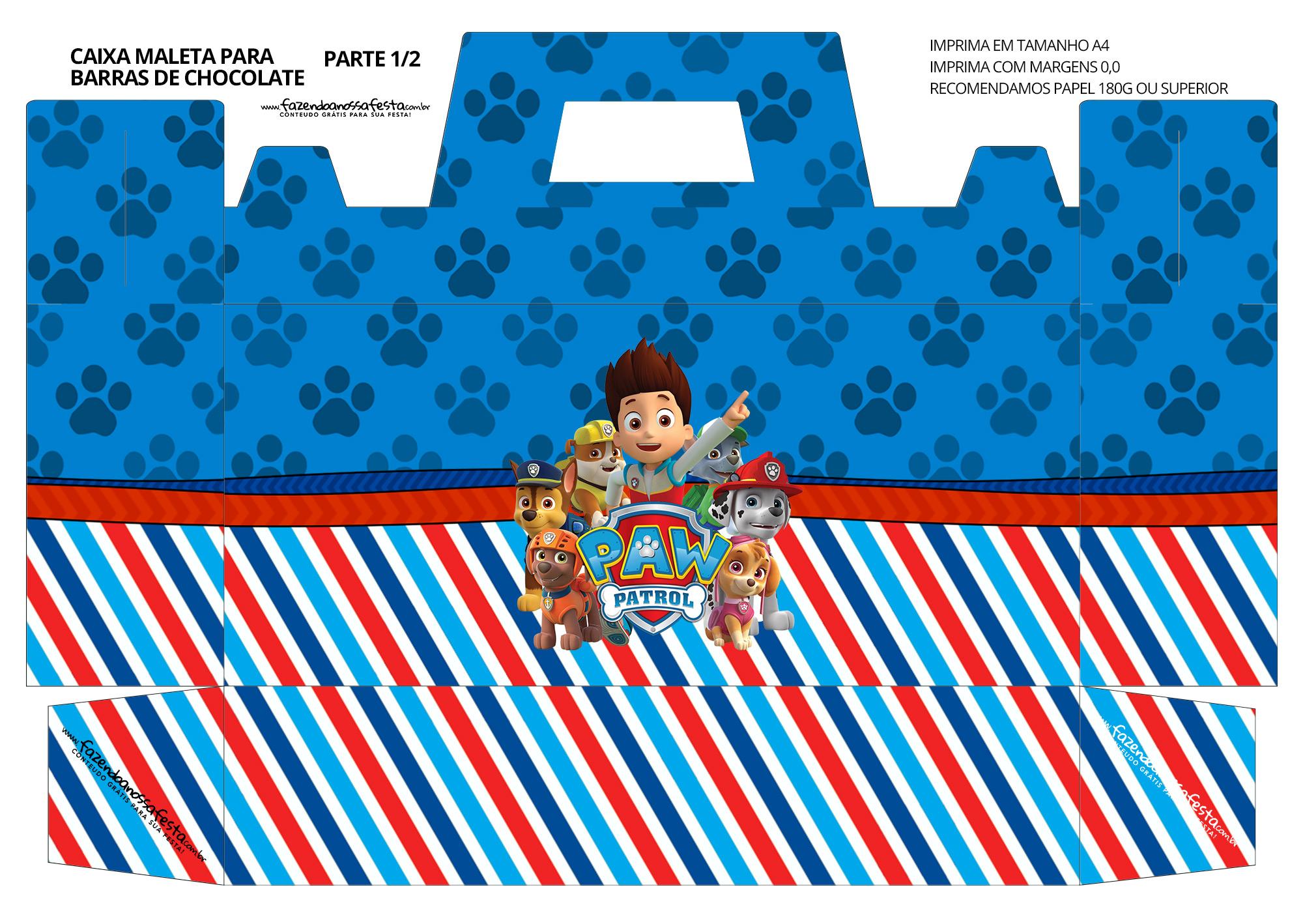 Caixa Maleta para Pascoa Paw Patrol 01