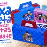 Caixa Maleta para Pascoa Personagens Gratis Imprima em Casa