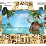 Caixa Maleta para Pascoa Personagens Maui Moana 01