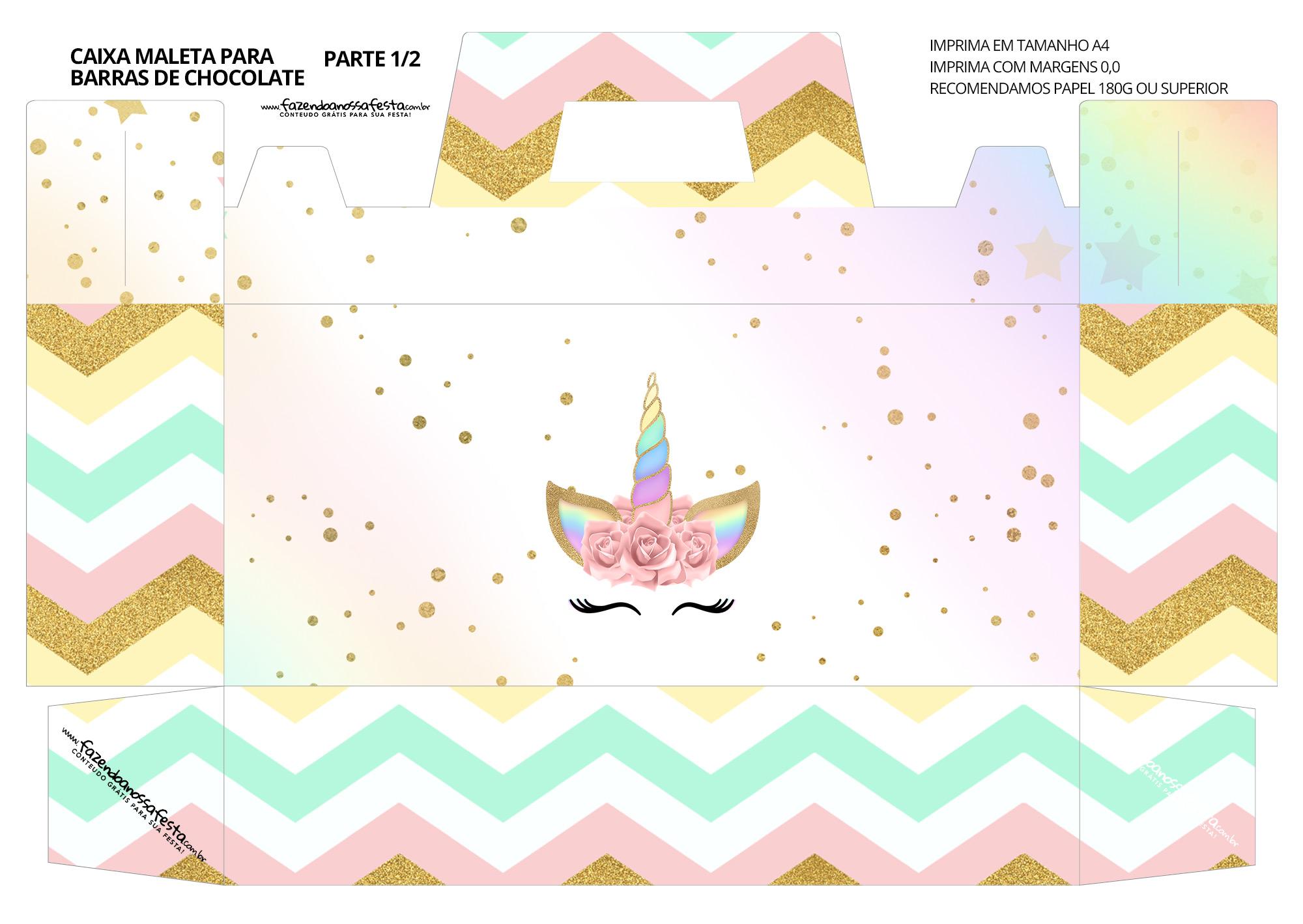 Caixa Maleta para Páscoa Personagens Unicornio 2 01