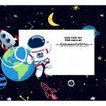 Caixa Mini Confeiteiro Astronauta parte de cima