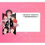 Caixa Mini Confeiteiro BTS rosa parte de cima