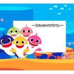 Caixa Mini Confeiteiro Baby Shark parte de cima