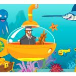 Caixa Mini Confeiteiro Bita e o Fundo do Mar parte de baixo