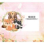 Caixa Mini Confeiteiro Bosque Encantado Rosa cima