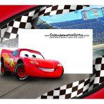 Caixa Mini Confeiteiro Carros Disney parte de cima