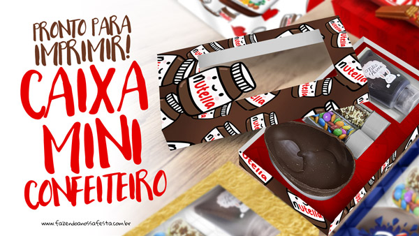 Caixa Mini Confeiteiro Chocolates