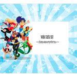 Caixa Mini Confeiteiro DC Super Hero Girls parte de cima