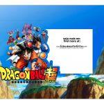 Caixa Mini Confeiteiro Dragon Ball Z parte de cima