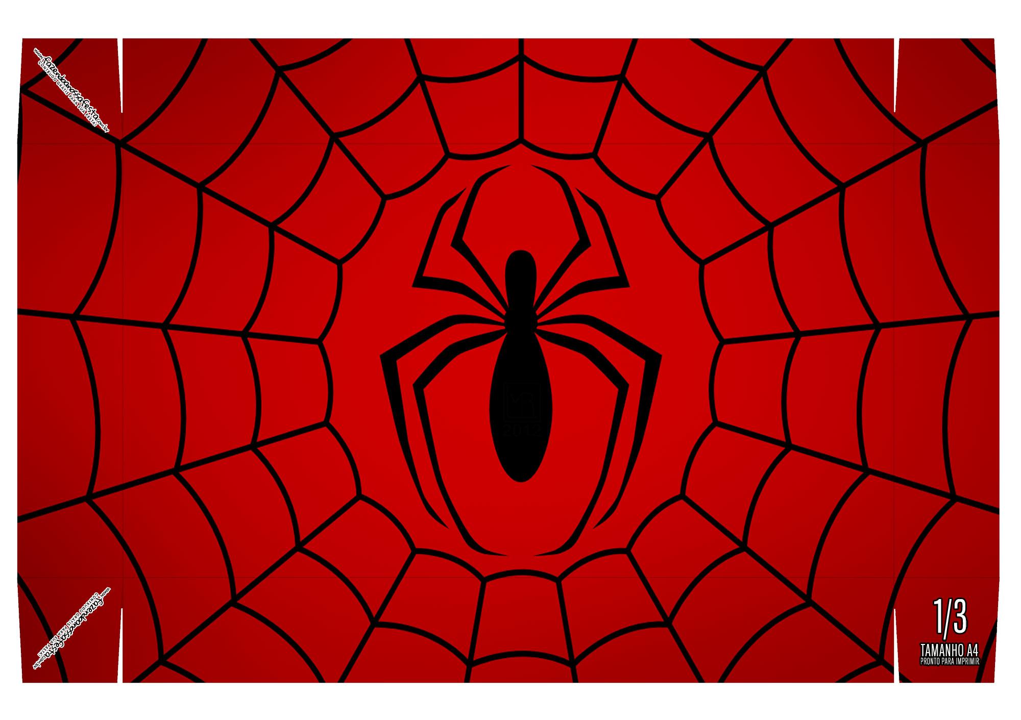 Caixa Mini Confeiteiro Homem Aranha Parte De Baixo Fazendo A