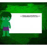 Caixa Mini Confeiteiro Hulk parte de cima