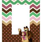 Caixa Kit Mini Confeiteiro Personagens Masha e o Urso parte de cima