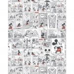 Caixa Mini Confeiteiro Mickey Vintage parte do meio