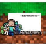 Caixa Mini Confeiteiro Minecraft parte de cima