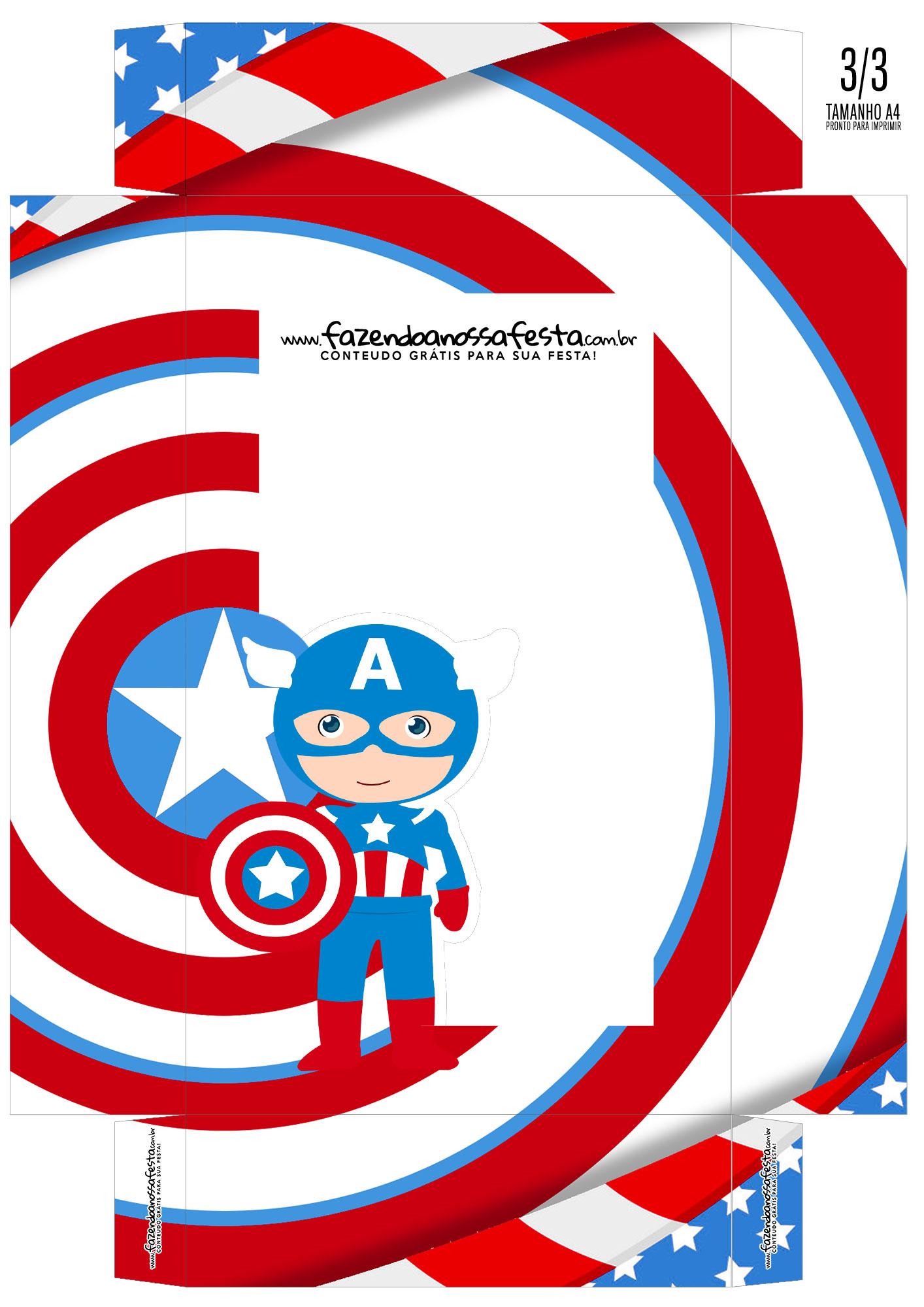 Caixa Ovo de Colher Capitao America 01