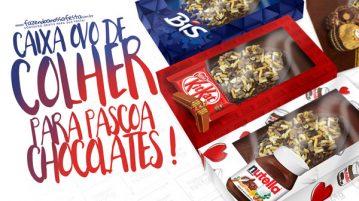 Caixa Ovo de Colher Chocolates para Pascoa Gratis
