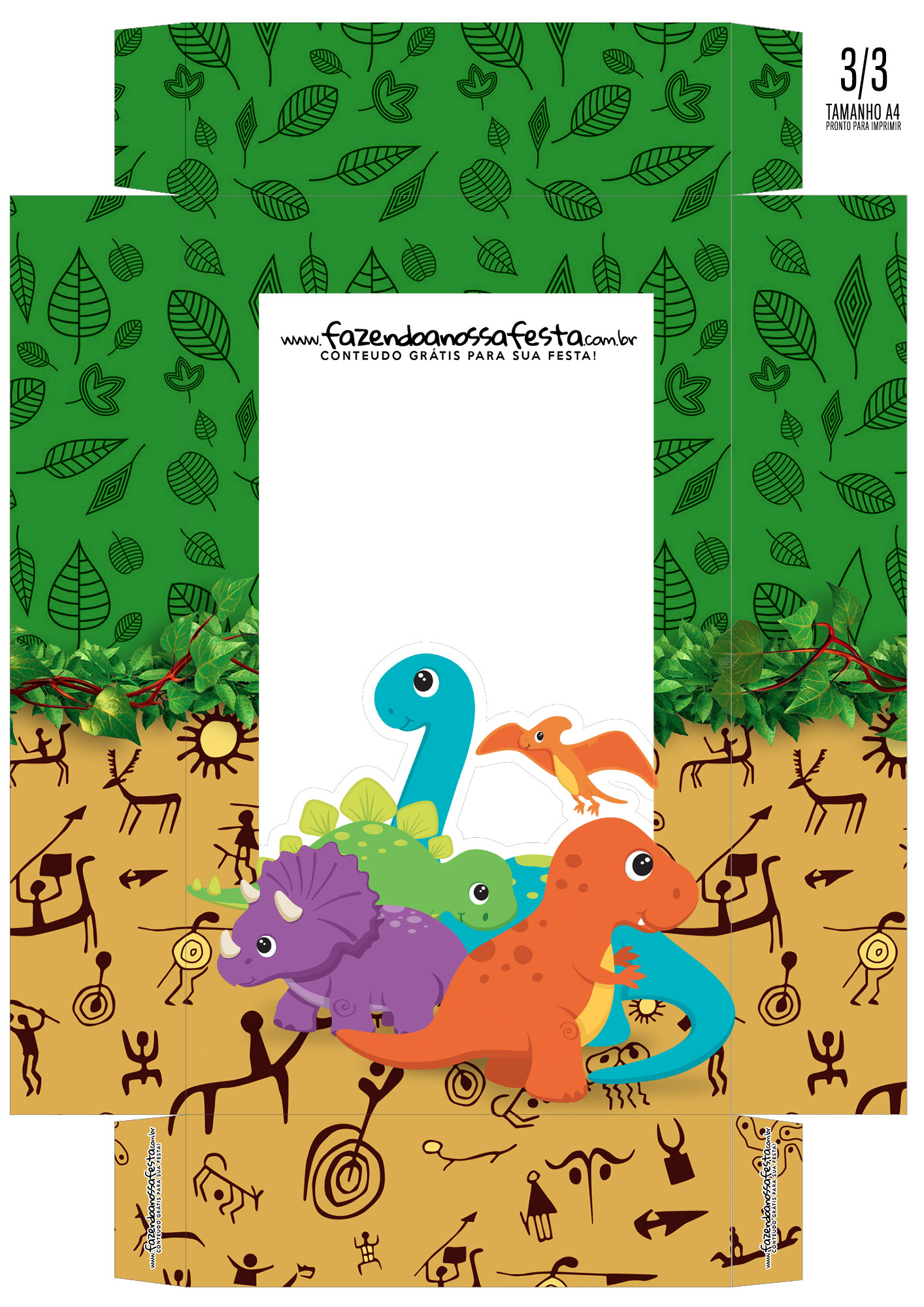Caixa Ovo de Colher Dinossauros 01
