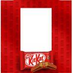 Caixa Ovo de Colher Chocolates para Pascoa Kit Kat tampa