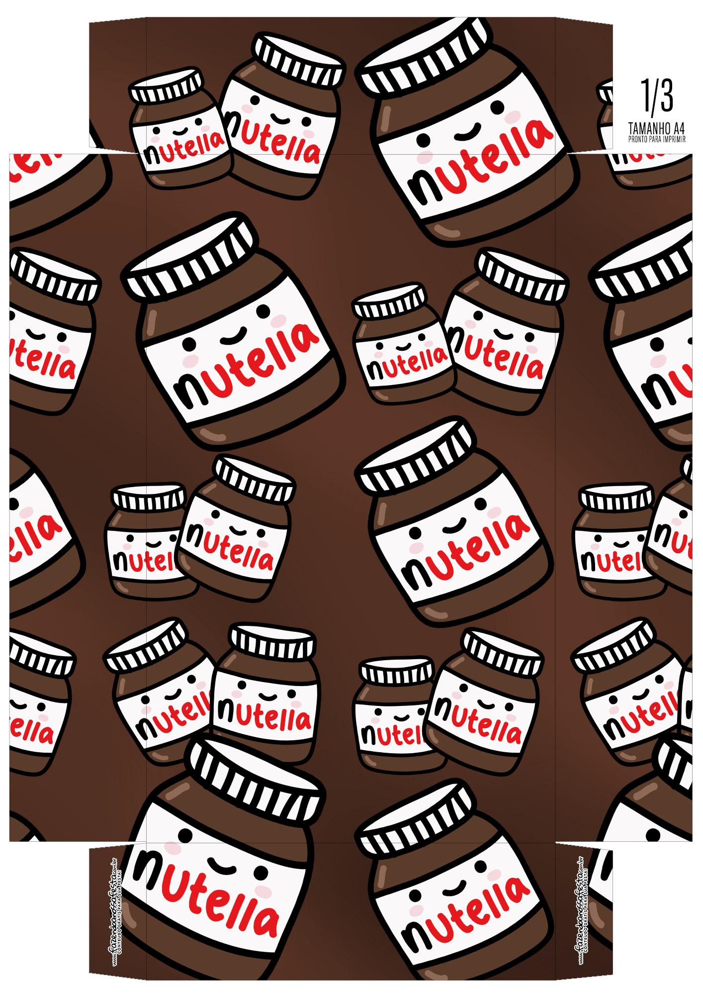 Caixa Ovo de Colher para Pascoa Nutella base