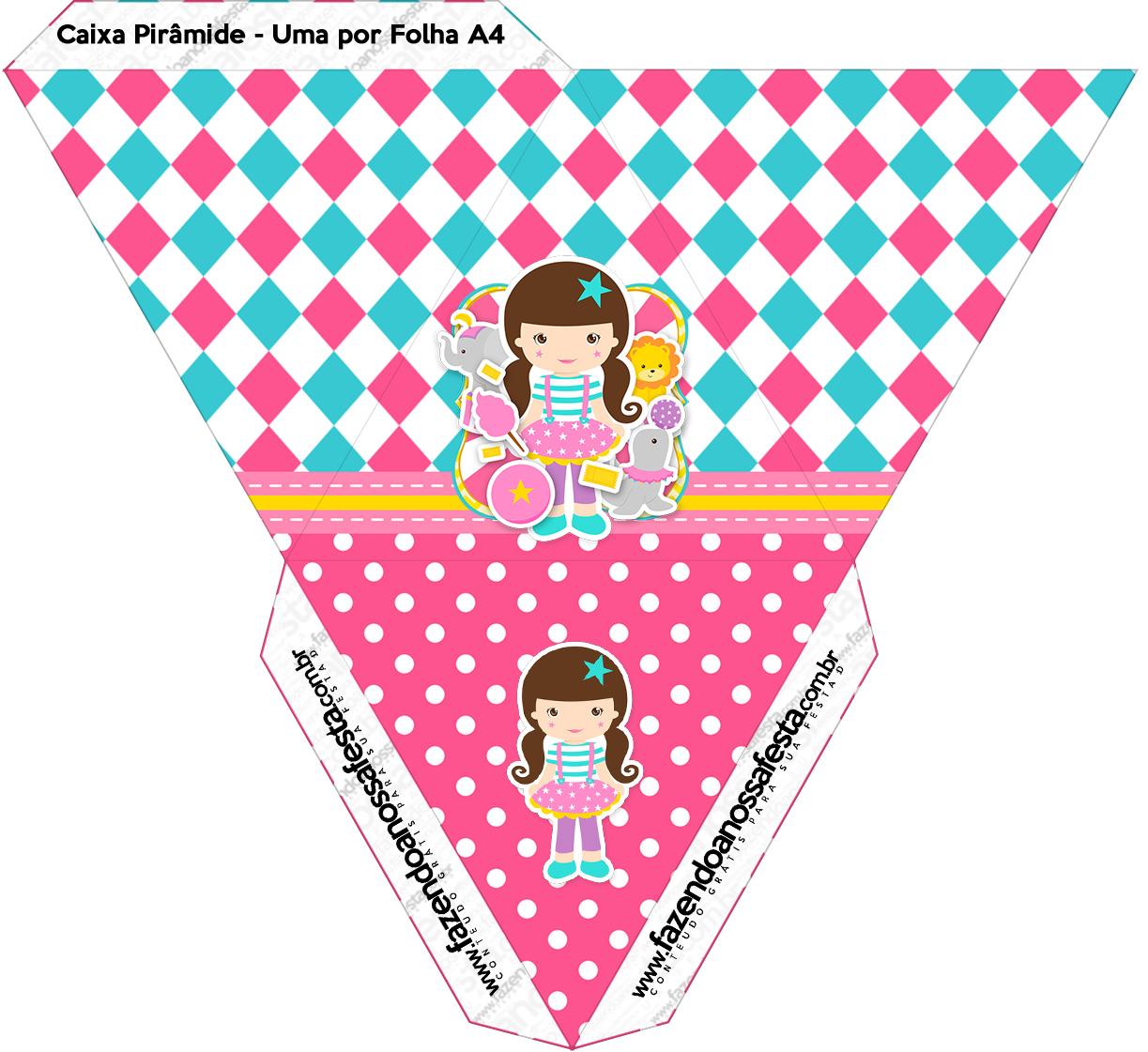 Caixa Piramide Circo Menina