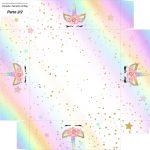 Caixa bombom Fundo Unicornio Colorido Kit Festa