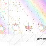 Caixa de leite Unicornio Colorido