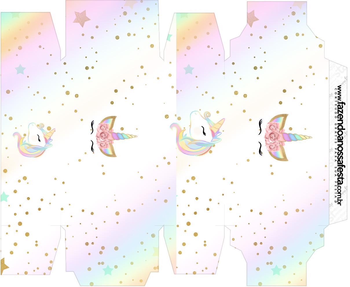 Caixa sabonete Unicornio Colorido