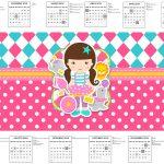 Calendario 2018 Circo Menina