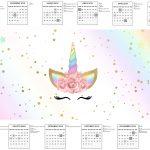 Calendario 2017 Unicornio Colorido