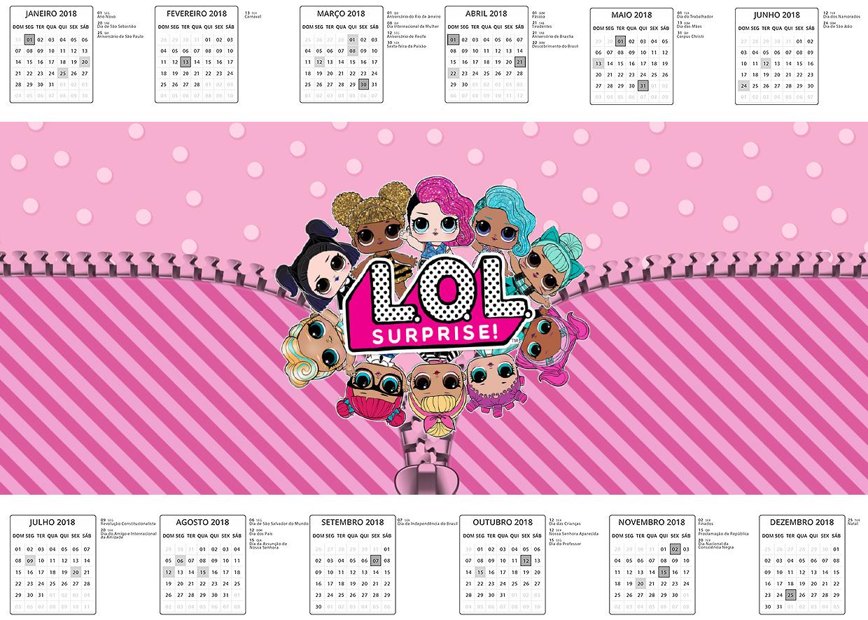 Calendario 2018 LOL Surprise kit festa