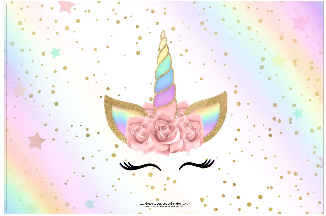 Cartao Unicornio Colorido Fazendo A Nossa Festa