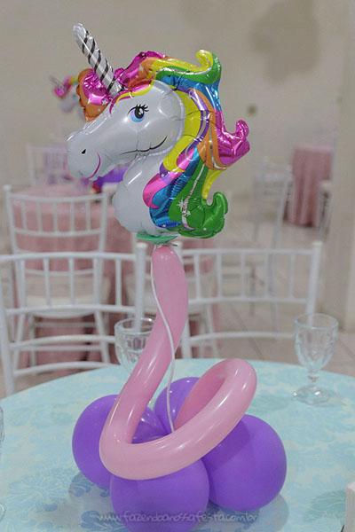 Centro Mesa Festa Unicornio da Ana Elisa