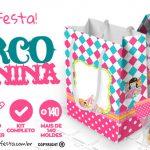 Circo Menina Kit Festa Grátis para Baixar e Imprimir em Casa