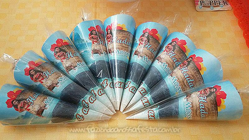 Cone Guloseimas Festa Moana da Hadassa