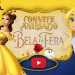 Convite Animado Virtual A Bela e a Fera Grátis para Baixar