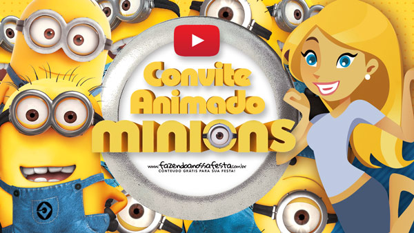 Convite Animado Virtual Minions
