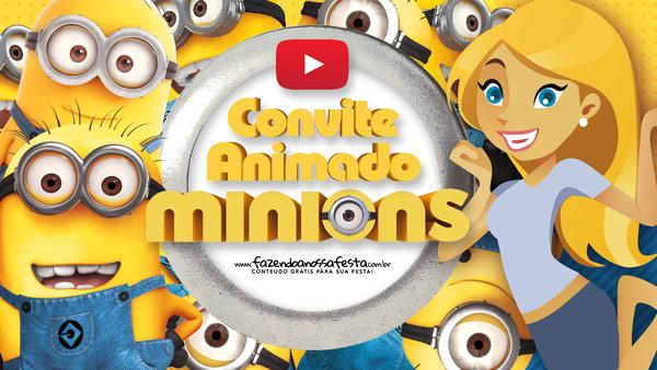 Convite Animado Virtual Minions