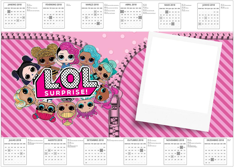 Convite Calendario 2017 LOL Surprise