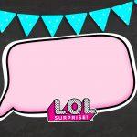 Convite Chalkboard LOL Surprise 2