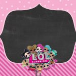 Convite Chalkboard LOL Surprise 7