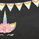 Convite Chalkboard Unicornio Gratis 2