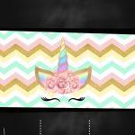 Convite Chalkboard Unicornio Gratis 5