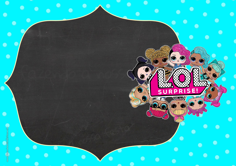 Convite Festa Infantil LOL Surprise 3